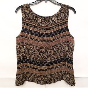 NEW Sleeveless 90s Inspired Button Top Tribal